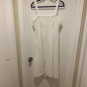 J. Crew Dresses - J. Crew White Eyelet Button Up Dress NWOT